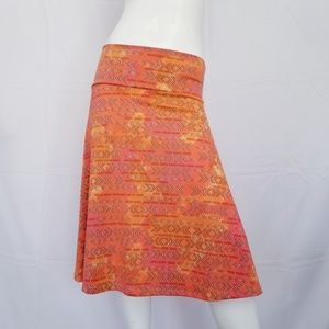 LULAROE Azure skirt Orange Salmon Medium A-Line